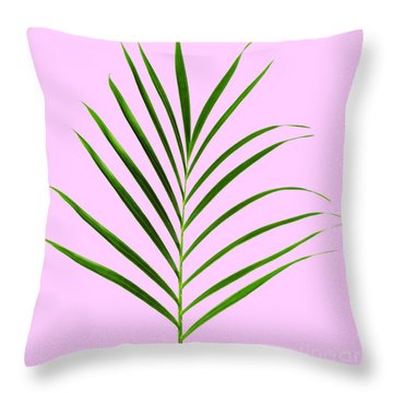 Palm Leaf Throw Pillow