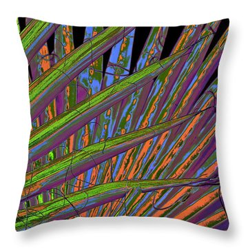 Palm Meanings Throw Pillow by Gwyn Newcombe