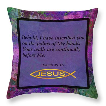 Palm Of His Hand Throw Pillow