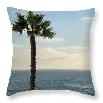 Throw Pillow featuring the photograph Palm Over The Sea by Brian Eberly