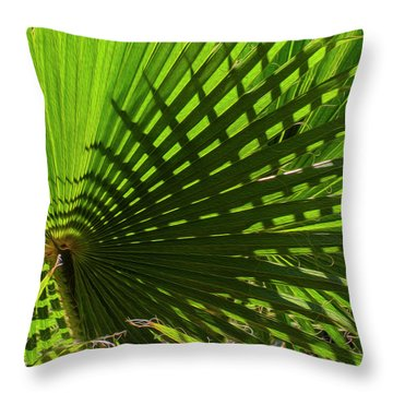 Throw Pillow featuring the photograph Palm Pattern No.1 by Mark Myhaver