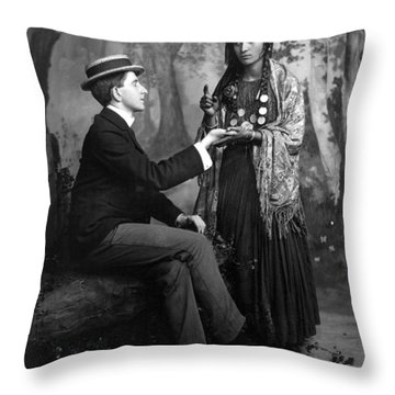 Palm-reading, C1910 Throw Pillow by Granger