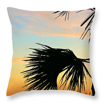 Throw Pillow featuring the photograph Palm Silhouette by Kristin Elmquist