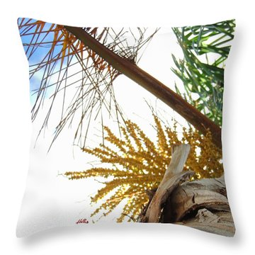 Palm Sky View Throw Pillow