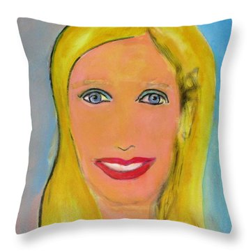 Palm Springs Doll Throw Pillow