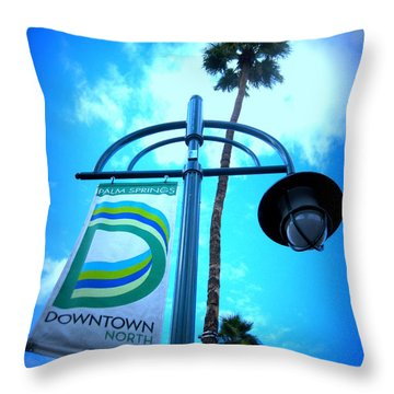 Palm Springs North Throw Pillow