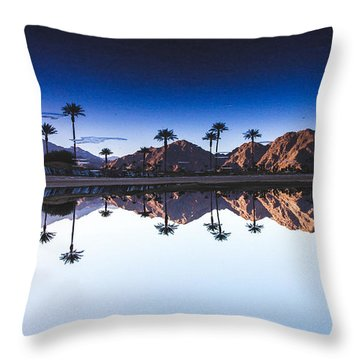 Palm Springs Reflection Throw Pillow