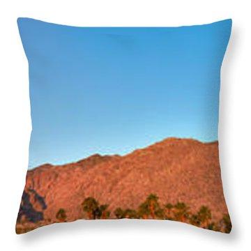 Palm Springs Sunrise Throw Pillow