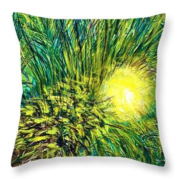 Palm Sunburst  Throw Pillow