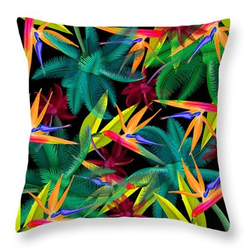 Palm Tree 4 Throw Pillow by Mark Ashkenazi