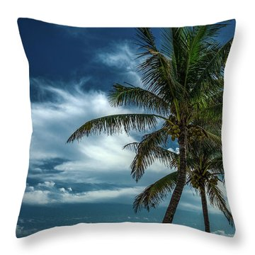Palm Tree Against The Sky Throw Pillow
