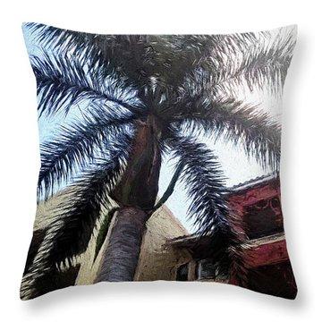Palm Tree Art Throw Pillow by Rena Trepanier