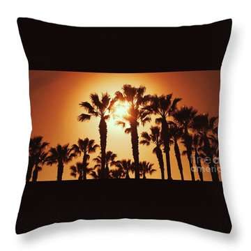 Palm Tree Dreams Throw Pillow