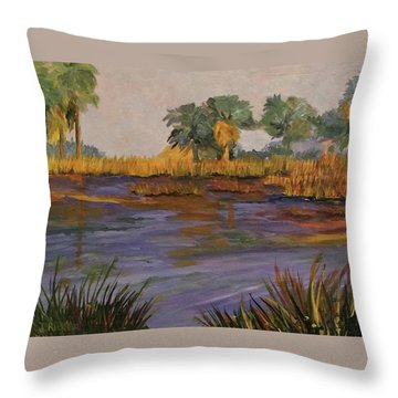 Palm Tree Hideaway  Throw Pillow