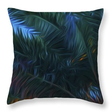 Palm Tree In The Sun Throw Pillow