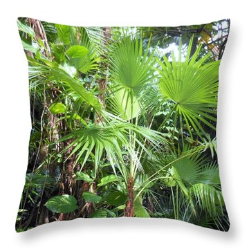 Throw Pillow featuring the photograph Palm Tree by Kay Gilley