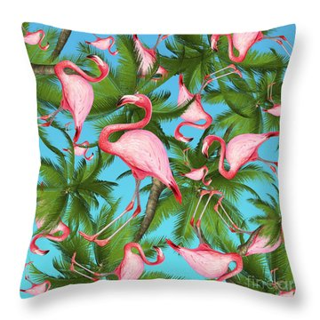 Palm Tree Throw Pillow by Mark Ashkenazi