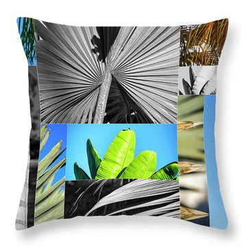 Palm Tree Parts Throw Pillow