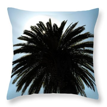 Palm Tree Silhouette Throw Pillow