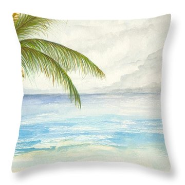 Throw Pillow featuring the digital art Palm Tree Study by Darren Cannell
