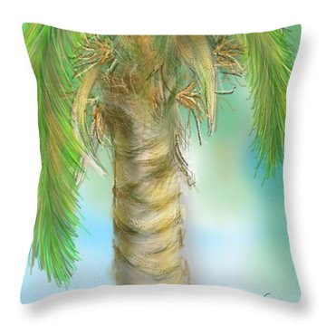 Throw Pillow featuring the digital art Palm Tree Study Two by Darren Cannell