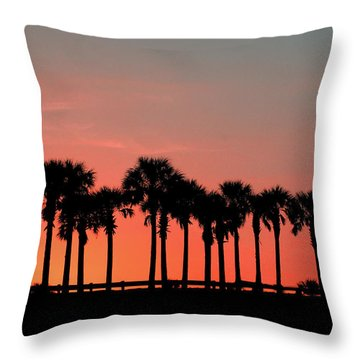 Throw Pillow featuring the photograph Palm Tree Sunset by Joel Witmeyer
