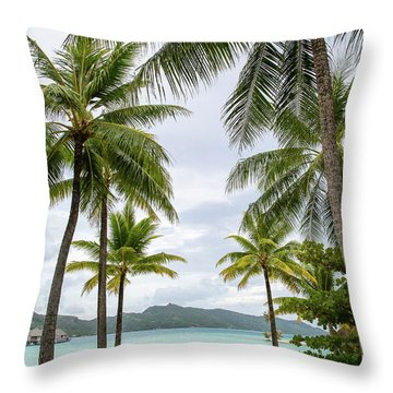 Throw Pillow featuring the photograph Palm Trees 1 by Sharon Jones