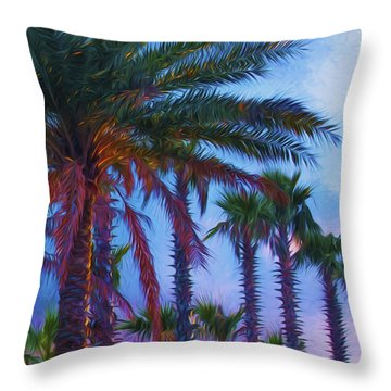 Palm Trees 3 Throw Pillow