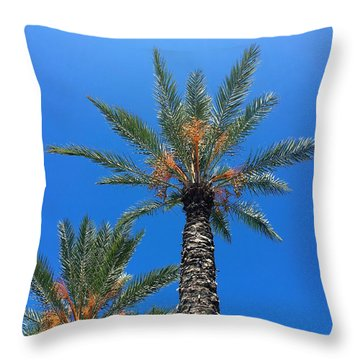 Palm Trees Throw Pillow by Kay Gilley