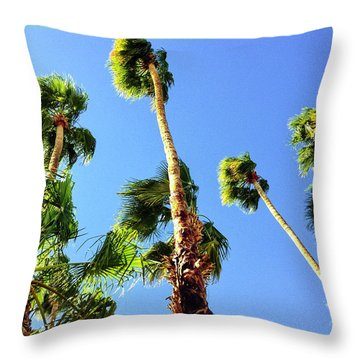 Palm Trees Looking Up Throw Pillow