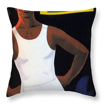 Palmers - Men's Vests And Briefs - Vintage Advertising Poster Throw Pillow
