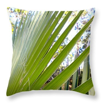 Throw Pillow featuring the painting Palmetto 1 by Renate Nadi Wesley