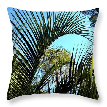 Throw Pillow featuring the painting Palmetto 2 by Renate Nadi Wesley