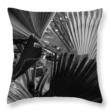 Palmetto In Black And White Throw Pillow