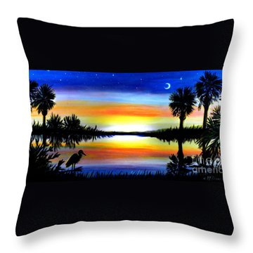 Palmetto Moon Low Country Sunset II Throw Pillow