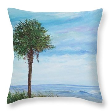 Sold  Palmetto On The Beach Throw Pillow