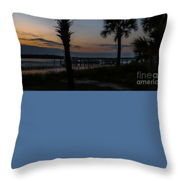 Palmetto Sky Throw Pillow