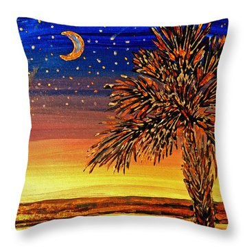 Palmetto Sunset  Throw Pillow