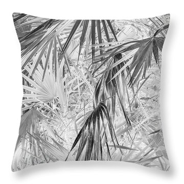 Palmettos Negatives Throw Pillow