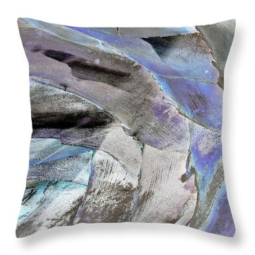 Layered Colors Throw Pillow
