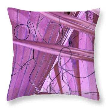Lines, Curves And Highlights Throw Pillow