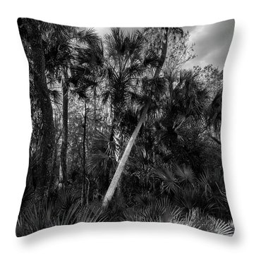 Palms And Palmettos Throw Pillow