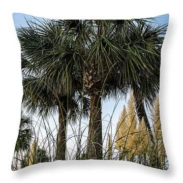 Palms At Lightkeepers Throw Pillow