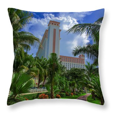 Palms At The Riu Cancun Throw Pillow