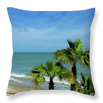 Palms At Vero Beach Throw Pillow