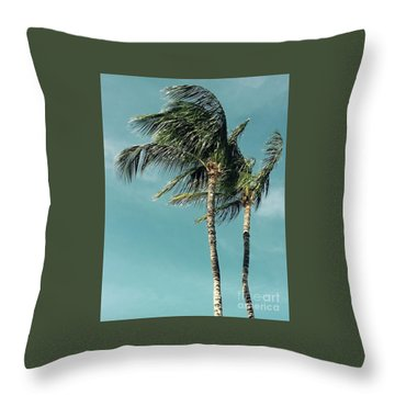 Palms In The Wind Throw Pillow
