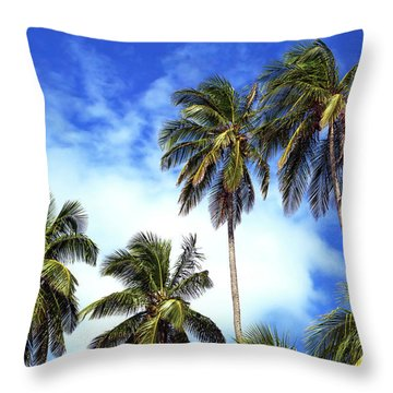 Palms Throw Pillow by John Rizzuto