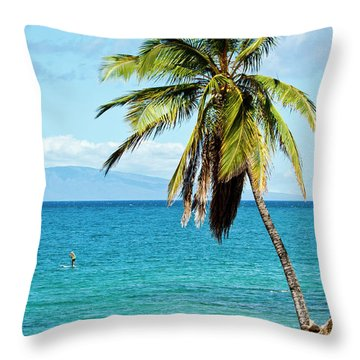Throw Pillow featuring the photograph Palms On Hawaiian Beach 12 by Micah May