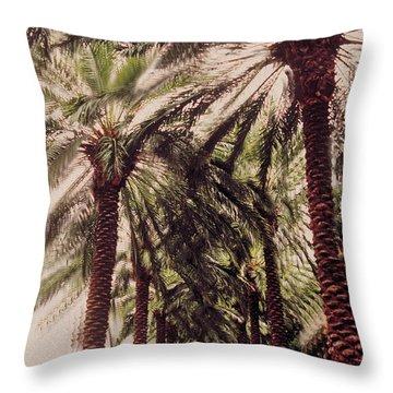 Palmtree Throw Pillow by Jeanette Korab