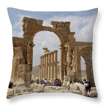 Palmyra Before...triumphal Arch Throw Pillow